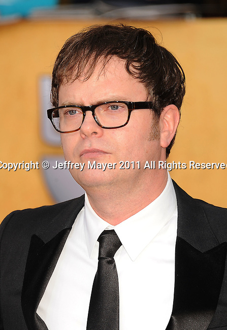 LOS ANGELES, CA - January 30: Rainn Wilson  arrives at the 17th Annual Screen Actors Guild Awards held at The Shrine Auditorium on January 30, 2011 in Los Angeles, California.