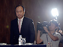 October 15, 2012, Tokyo, Japan - President Masayoshi Son of Japan's Softbank attends a presentation in Tokyo, where he announced a deal agreed with American wireless operator Sprint Nextel Corp. on Monday, October 15, 2012...Sharp Corp. announced that it is.Softbank and Sprint, the third-largest mobile phone companies in Japan and U.S.respectively, have reached the agreement under which the Japanse mobile company pays $20 billion to acquire a 70% stake in the U.S. cellular phone company, thus creating one of the the leading communications groups in the world with a total of 90 million mobile phone subscriptions.  (Photo by Natsuki Sakai/AFLO) AYF -mis-