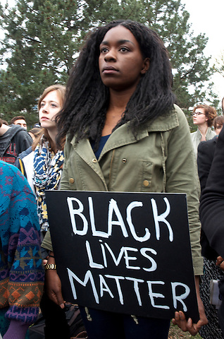 Black Lives Matter supporters in Boston rally against police brutality after the death of Freddy Gray in police custody in Baltimore 2015