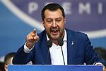 European Elections Far Right leaders Rally in Milano, Italy on May 18, 2019; Matteo Salvini (Leader of Italy's La Lega