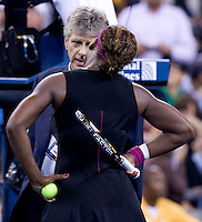 Serena Williams (USA) (2) against Kim Clijsters (BEL) in the Semifinals. Clijsters beat Williams 6-4 7-5..International Tennis - US Open - Day 13  Sat 12 Sep 2009 - USTA Billie Jean King National Tennis Center - Flushing - New York - USA ..© Frey Images, Barry House, 20-22 Wople Road, London, SW19 4DH.Tel - +44 20 8947 0100.Cell - +44 7843 383 012.Email - mfrey@advantagemedianet.com