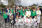 Martial Arts experts from White Lightening Karate Group at the Killarney who marched at the St Patricks Day parade on Sunday..