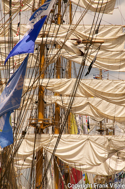 Tall Ships Rigging and Sails of Cisne Branco (Brazil), BAE Guayas (Ecuador) & ARC Gloria (Columbia)