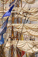 Tall Ships Rigging and Sails of Cisne Branco (Brazil), BAE Guayas (Ecuador) & ARC Gloria (Columbia)