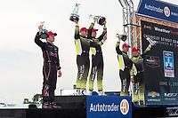 GTD Podium: 3rd Place - #73 Park Place Motorsports Porsche 911 GT3 R, GTD: Patrick Long, Zacharie Robichon, 1st Place - #14 AIM Vasser Sullivan Lexus RC F GT3, GTD: Richard Heistand, Jack Hawksworth, 2nd Place - #12 AIM Vasser Sullivan Lexus RC F GT3, GTD: Frank Montecalvo, Townsend Bell