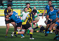 Hayden Stratford takes the ball up during the 2019 Manawatu premier club rugby Hankins Shield final match between Varsity and Feilding Yellows at CET Arena in Palmerston North, New Zealand on Saturday, 13 July 2019. Photo: Dave Lintott / lintottphoto.co.nz