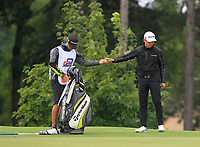 Daniel Im (USA) on the 2nd green during Round 4 of the D+D Real Czech Masters at the Albatross Golf Resort, Prague, Czech Rep. 03/09/2017<br /> Picture: Golffile   Thos Caffrey<br /> <br /> <br /> All photo usage must carry mandatory copyright credit     (&copy; Golffile   Thos Caffrey)