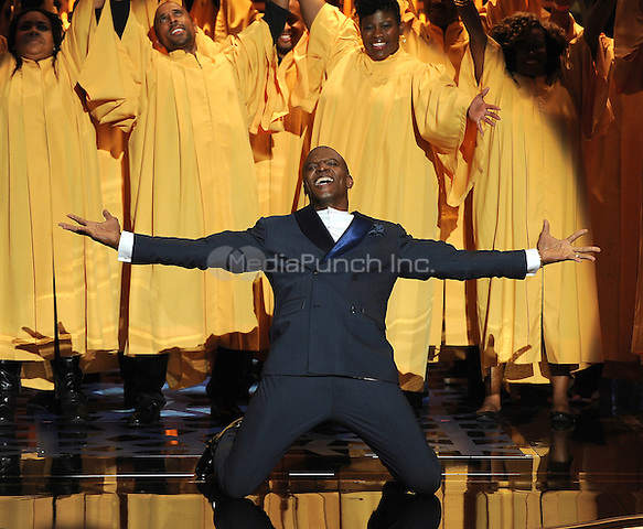 BEVERLY HILLS, CA - APRIL 11: Terry Crews hosts the 2015 TV Land Awards at the Saban Theater on April 11, 2015 in Beverly Hills, California. FMPG/MediaPunch