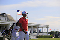Defending Champion Brooks Koepka (USA) walks off the 14th tee during Saturday's Round 3 of the 118th U.S. Open Championship 2018, held at Shinnecock Hills Club, Southampton, New Jersey, USA. 16th June 2018.<br /> Picture: Eoin Clarke | Golffile<br /> <br /> <br /> All photos usage must carry mandatory copyright credit (&copy; Golffile | Eoin Clarke)