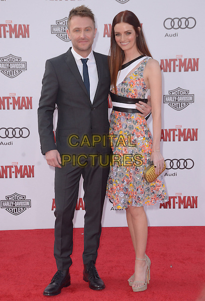 29 June 2015 - Hollywood, California - Chris Hardwick, Lydia Hearst. Arrivals for the world premiere of Marvel's &quot;Ant-Man&quot; held at The Dolby Theater. <br /> CAP/ADM/BT<br /> &copy;BT/ADM/Capital Pictures