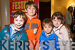 Tadgh Breslin O'Connell, Phelam Carroll, Harry O'Connell and Shauna Carroll, pictured at the Circus festival in Siamsa Tire on Saturday.