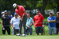 Jon Rahm (ESP) barely misses his birdie putt on 3 during Rd4 of the 2019 BMW Championship, Medinah Golf Club, Chicago, Illinois, USA. 8/18/2019.<br /> Picture Ken Murray / Golffile.ie<br /> <br /> All photo usage must carry mandatory copyright credit (© Golffile | Ken Murray)