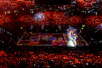 Presentation of the Finals before start the match of 2017 King's Cup at Fernando Buesa Arena between Real Madrid and Valencia Basket in Vitoria, Spain. February 19, 2017. (ALTERPHOTOS/BorjaB.Hojas) /NortEPhoto.com