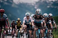 Axel Domont (FRA/AG2R-La Mondiale) setting a fierce pace atop the Col du Pr&eacute;<br /> <br /> Stage 6: Frontenex &gt; La Rosi&egrave;re Espace San Bernardo (110km)<br /> 70th Crit&eacute;rium du Dauphin&eacute; 2018 (2.UWT)