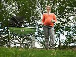 Pregnant woman with pram