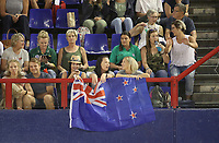JOHANNESBURG, SOUTH AFRICA - JANUARY 28: Silver Ferns supporters in the crowds during the Netball Quad Series netball match between Diamonds and Silver Ferns at the Ellis Park Arena in Johannesburg. Mandatory Photo Credit: ©Reg Caldecott/Michael Bradley Photography