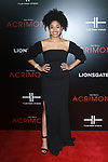 "Actress Racquel Bianca John arrives on the red-carpet for Tyler Perry""s ACRIMONY movie premiere at the School of Visual Arts Theatre in New York City, on March 27, 2018."