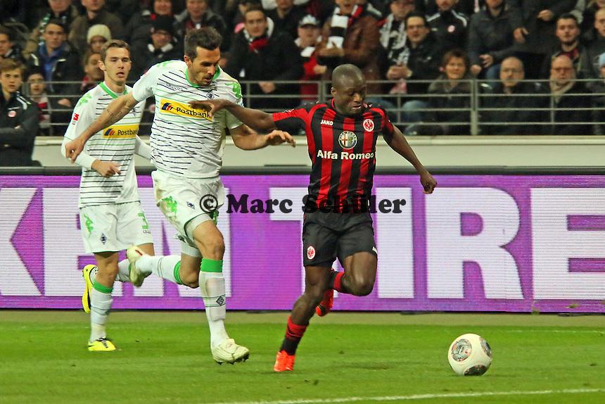 Constant Djakpa (Eintracht) setzt sich durch - Eintracht Franfurt vs. Borussia Mönchengladbach, Commerzbank Arena