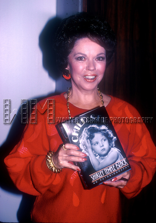 Shirley Temple Black attends the book party for Shirley Temple Black 'Child Star' on October 25, 1988 at B. Dalton Book Store in New York City.