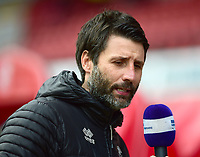 Lincoln City manager Danny Cowley during the pre-match warm-up<br /> <br /> Photographer Andrew Vaughan/CameraSport<br /> <br /> The EFL Sky Bet League Two - Swindon Town v Lincoln City - Saturday 12th January 2019 - County Ground - Swindon<br /> <br /> World Copyright © 2019 CameraSport. All rights reserved. 43 Linden Ave. Countesthorpe. Leicester. England. LE8 5PG - Tel: +44 (0) 116 277 4147 - admin@camerasport.com - www.camerasport.com