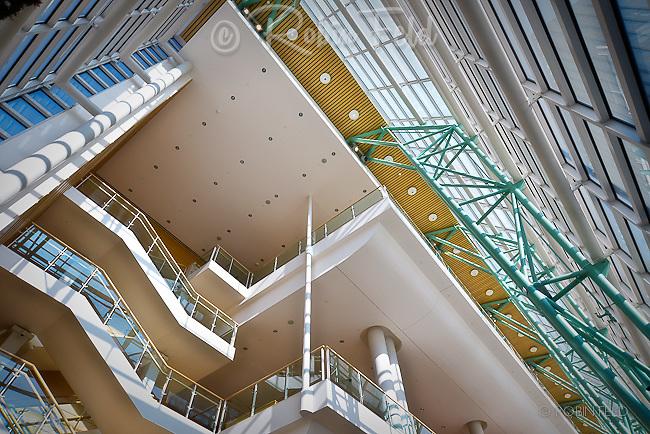 Interior  photo Schuster Center. Architectural  elements.