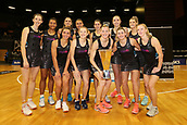 13th September 2017, Hamilton, New Zealand;  The Silver Ferns pose for a team photo after winning the Taini Jamison Trophy. Taini Jamison Trophy international netball match - Silver Ferns versus  England played at Claudelands Arena, Hamilton, New Zealand on Wednesday 13 September 2017