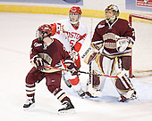 Brett Motherwell, John Laliberte, Cory Schneider - The Boston College Eagles defeated the Boston University Terriers 5-0 on Saturday, March 25, 2006, in the Northeast Regional Final at the DCU Center in Worcester, MA.