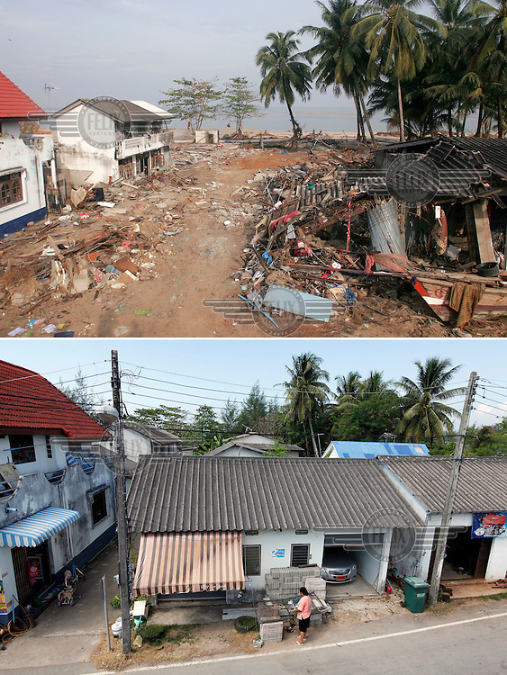Fishing village Baan Nam Khem in Khao Lak, north of Phuket,Thailand, was severley hit by the Tsunami that struck Asia 26.12.2004.  A large part of the village was wiped out, but is now largely rebuilt..©Fredrik Naumann/Felix Features