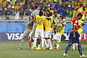 Brazil team group (BRA), JUNE 28, 2014 - Football / Soccer : Brazil players celebrate after winning FIFA World Cup Brazil<br /> match between Brazil and Chile at the Mineirao Stadium in Belo Horizonte, Brazil. (Photo by AFLO)