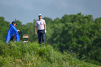 Lucas Bjerregaard (DEN) looks from atop a hill to see if the green on 14 is clear during the round 1 of the AT&T Byron Nelson, Trinity Forest Golf Club, Dallas, Texas, USA. 5/9/2019.<br /> Picture: Golffile | Ken Murray<br /> <br /> <br /> All photo usage must carry mandatory copyright credit (© Golffile | Ken Murray)