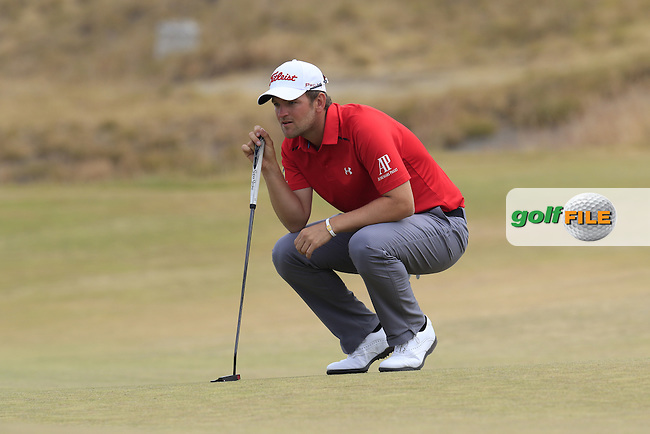Bernd WIESBERGER (AUT) at the 17th green during Thursday's Round 1 of the 2015 U.S. Open 115th National Championship held at Chambers Bay, Seattle, Washington, USA. 6/18/2015.<br /> Picture: Golffile | Eoin Clarke<br /> <br /> <br /> <br /> <br /> All photo usage must carry mandatory copyright credit (&copy; Golffile | Eoin Clarke)