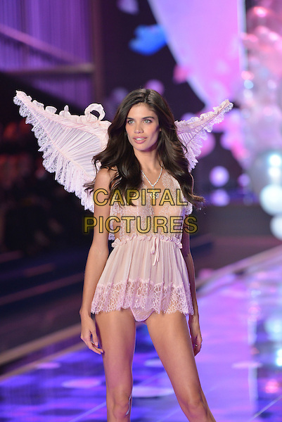 LONDON, ENGLAND - DECEMBER 02: Sara Sampaio on the runway at the annual Victoria's Secret fashion show at Earls Court on December 2, 2014 in London, England.<br /> CAP/PL<br /> &copy;Phil Loftus/Capital Pictures