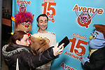 """Jason Jacoby with Avenue Q & Puppetry Fans during """"Avenue Q"""" Celebrates World Puppetry Day at The New World Stages on 3/21/2019 in New York City."""