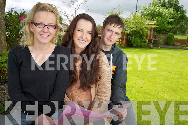 Killarney triplets Brid, Nancy and John O'Connor, Ballaugh, Killarney, who sat the Leaving Cert in the Intermediate School, Killorglin on Wednesday.........................