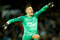 3rd March 2020; The Hawthorns, West Bromwich, West Midlands, England; English FA Cup Football, West Bromwich Albion versus Newcastle United; Goalkeeper Karl Darlow celebrates Newcastle United's opening goal after 31 minutes (0-1)