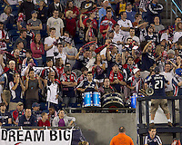 The New England Revolution defeated the Seattle Sounders FC, 3-1, at Gillette Stadium on September 4, 2010.