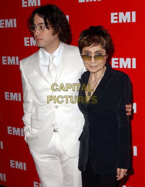 SEAN LENNON & YOKO ONO.EMI Post Grammy Party held at The Los Angeles County Museum of Art in Los Angeles, California .8 February 2004                                                                      *UK Sales Only*.half length, half-length.www.capitalpictures.com.sales@capitalpictures.com.©Capital Pictures.