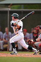 Dartmouth Big Green first baseman Michael Ketchmark (27) during a game against the Ball State Cardinals on March 7, 2015 at North Charlotte Regional Park in Port Charlotte, Florida.  Ball State defeated Dartmouth 7-4.  (Mike Janes/Four Seam Images)