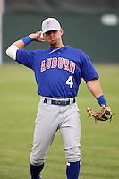 June 18th 2008:  Bryan Kervin of the Auburn Doubledays, Class-A affiliate of the Toronto Blue Jays, during a game at Dwyer Stadium in Batavia, NY.  Photo by:  Mike Janes/Four Seam Images