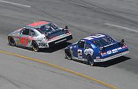 May 6, 2007; Richmond, VA, USA; Nascar Nextel Cup Series driver David Stremme (40) leads Kurt Busch (2) during the Jim Stewart 400 at Richmond International Raceway. Mandatory Credit: Mark J. Rebilas