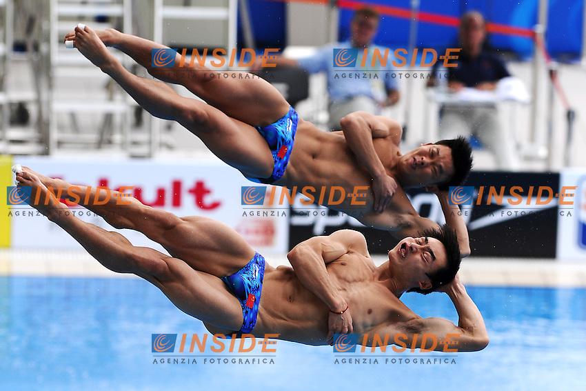 Kai QIN and Yutong LUO China.Men's 3m Synchro Springboard - Tuffi Trampolino 3m Synchro Uomini Preliminary.Shanghai 19/7/2011 .14th FINA World Championships.Foto Andrea Staccioli Insidefoto