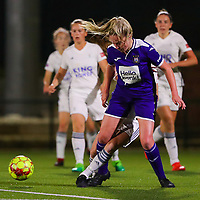 20190920 – LEUVEN, BELGIUM : RSC Anderlecht's Michelle Colson is pictured during a women soccer game between Dames Oud Heverlee Leuven A and RSC Anderlecht Ladies on the fourth matchday of the Belgian Superleague season 2019-2020 , the Belgian women's football  top division , friday 20 th September 2019 at the Stadion Oud-Heverlee Korbeekdam in Oud Heverlee  , Belgium  .  PHOTO SPORTPIX.BE | SEVIL OKTEM