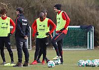 Daichi Kamada (Eintracht Frankfurt), Trainer Niko Kovac (Eintracht Frankfurt), Jetro Willems (Eintracht Frankfurt), Alexander Meier (Eintracht Frankfurt) - 06.03.2018: Eintracht Frankfurt Training, Commerzbank Arena