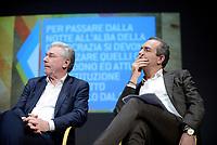 Roma, 1 Dicembre 2018<br /> Enrico Panini e Luigi De Magistris.<br /> Il Sindaco di Napoli lancia a Roma nel Teatro Italia &quot;Oltre le disuguaglianze&quot; , una nuova coalizione dei Popoli