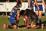 NELSON, NEW ZEALAND - JULY 6: Div 1 Rugby - Kahurangi v Wanderers at Sport Park, Motueka. 6 July 2019 in Motueka, New Zealand. (Photo by Chris Symes/Shuttersport Limited)