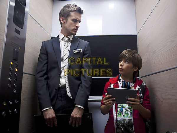 Enzo Tomasini, Philippe Lacheau<br /> in Babysitting (2014) <br /> *Filmstill - Editorial Use Only*<br /> CAP/NFS<br /> Image supplied by Capital Pictures