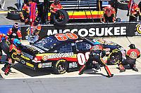Apr 26, 2009; Talladega, AL, USA; NASCAR Sprint Cup Series driver Brad Keselowski pits during the Aarons 499 at Talladega Superspeedway. Mandatory Credit: Mark J. Rebilas-