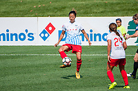 Kansas City, MO - Saturday September 9, 2017: Yuki Nagasato during a regular season National Women's Soccer League (NWSL) match between FC Kansas City and the Chicago Red Stars at Children's Mercy Victory Field.