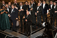 J. Miles Dale, Guillermo del Toro, Octavia Spencer, Doug Jones, Sally Hawkins, Michael Shannon and Richard Jenkins accept the Oscar&reg; for Best motion picture of the year  for work on &ldquo;The Shape of Water&rdquo; during the live ABC Telecast of The 90th Oscars&reg; at the Dolby&reg; Theatre in Hollywood, CA on Sunday, March 4, 2018.<br /> *Editorial Use Only*<br /> CAP/PLF/AMPAS<br /> Supplied by Capital Pictures