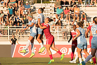 Boyds, MD - Saturday June 03, 2017: Rachel Daly, Amber Brooks, Kristie Mewis during a regular season National Women's Soccer League (NWSL) match between the Washington Spirit and Houston Dash at Maureen Hendricks Field, Maryland SoccerPlex.